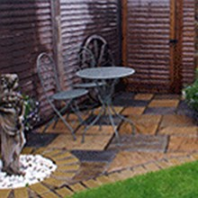Banner image with link to Gardens & Patios page.